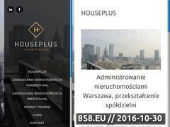 Miniaturka domeny www.houseplus.pl