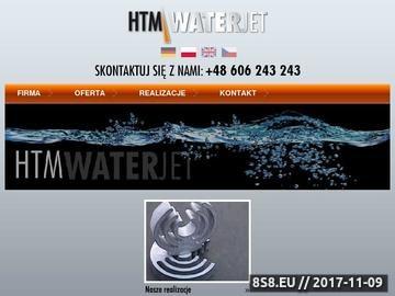 Zrzut strony Htm-Waterjet - Cięcie strumieniem wody