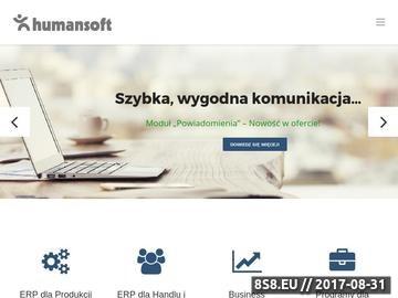 Zrzut strony System erp, program zarządzanie produkcją