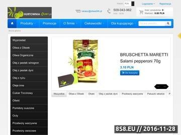 Zrzut strony Hurtownia Oliwy, oliwa z oliwek - sklep internetowy