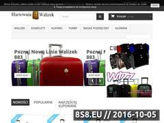 Miniaturka domeny hurtowniawalizek.pl