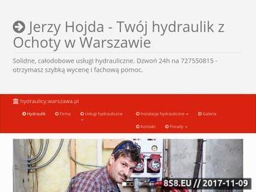 Zrzut strony Hydraulik Warszawa