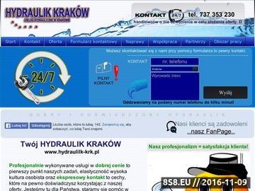 Zrzut strony Usługi hydrauliczne na terenie Krakowa