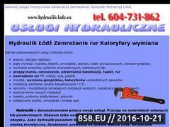 Miniaturka domeny www.hydraulik-lodz.eu