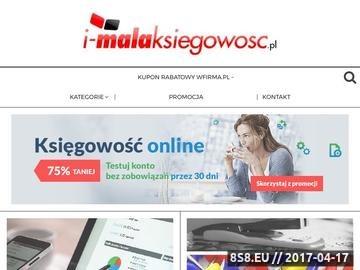 Zrzut strony Księgowość online - i-MalaKsiegowosc.pl