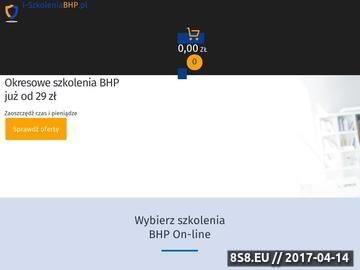 Zrzut strony Szkolenie BHP
