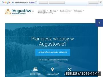 Zrzut strony Informacje o zabytkach, noclegach, wydarzeniach w Augustowie