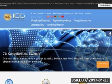 Zrzut strony Firma windykacyjna ICG Group