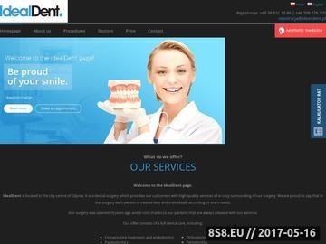 Zrzut strony Dentysta Gdynia, Stomatolog Gdynia, Wybielanie zębów Gdynia - Ideal Dent