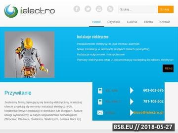 Zrzut strony Usługi elektryczne Wrocław