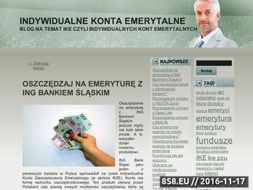 Zrzut strony Konta Emerytalne IKE