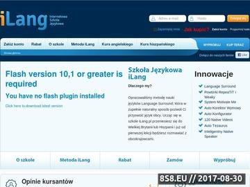 Zrzut strony ILang.pl - internetowa szkoła języków obcych