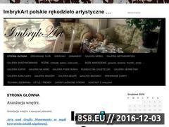 Miniaturka domeny www.imbrykartgaleria.cba.pl