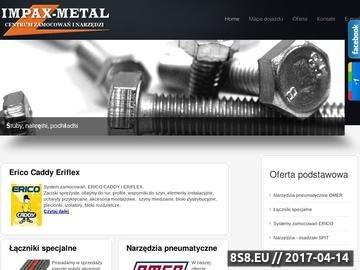 Zrzut strony Centrum Zamocowań i Narzędzi-Impax-Metal