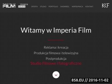 Zrzut strony Imperia Film - filmy promocyjne