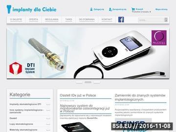 Zrzut strony Wyposażenie dla stomatologii