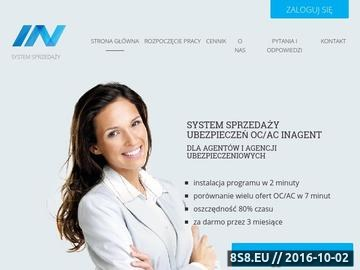 Zrzut strony Program dla agenta ubezpieczeniowego - InAgent