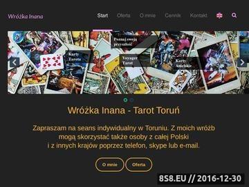 Zrzut strony Wróżka Inana - Tarot Toruń, Voyager Tarot, Runy, Wróżenie