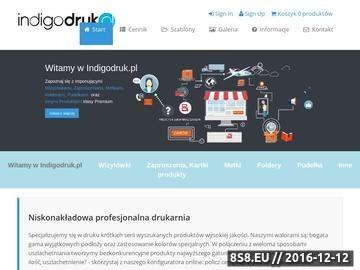 Zrzut strony Cyfrowa drukarnia internetowa Indigodruk.pl