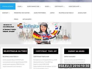 Zrzut strony Kursy języka angielskiego w Krakowie