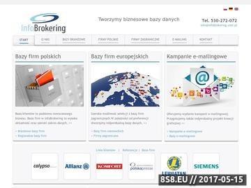 Zrzut strony Infobrokering - bazy dnaych pozyskiwanie kontaktow mailing