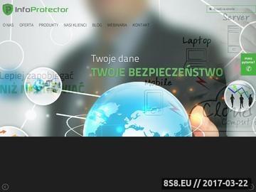 Zrzut strony Szyfrowanie i kontrola urządzeń w firmie - InfoProtector