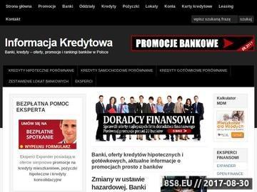 Zrzut strony Informacja kredytowa
