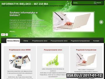 Zrzut strony Pogotowie komputerowe Bielsko
