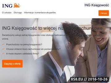 Zrzut strony Pełna księgowość - Bank Śląski