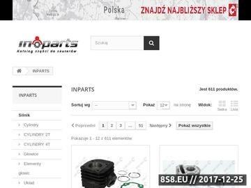 Zrzut strony Części do skuterów sklep internetowy