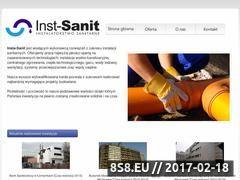 Miniaturka domeny www.inst-sanit.pl