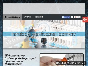 Zrzut strony Kontakt - monitoring Białystok