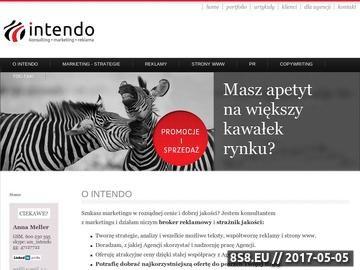 Zrzut strony Intendo - marketing, reklama, firmy, sprzedaż i PR