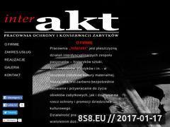 Miniaturka domeny www.interakt-pracownia.pl