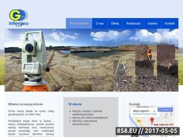Zrzut strony INTERGEO uslugi geodety