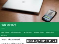 Miniaturka domeny www.intratrader.pl