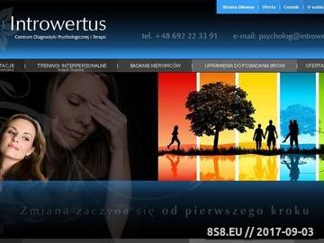 Zrzut strony Poradnia Psychologiczna Introwertus, Psycholog - Agata Kos