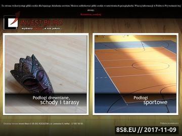Zrzut strony INVEST-BIURO - podłogi sportowe, podłogi drewniane, schody, tarasy