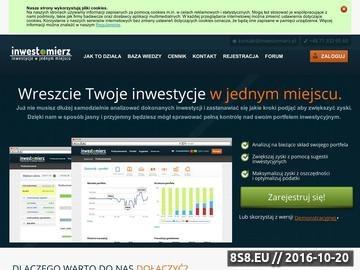 Zrzut strony Analiza fundamentalna i techniczna. Sprawdź możliwości serwisu Inwestomierz.pl!