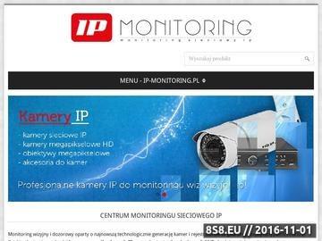 Zrzut strony Monitoring wizyjny IP