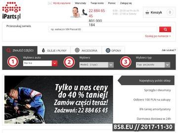 Zrzut strony Auto części iParts.pl