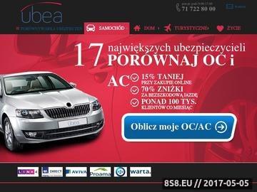 Zrzut strony Kalkulator OC, ubezpieczenia samochodu
