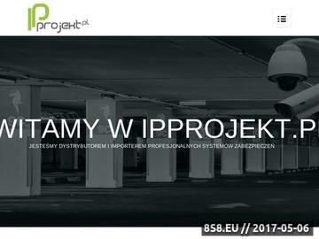 Zrzut strony IPprojekt.pl - systemy zabezpieczeń, alarmy i monitoring IP