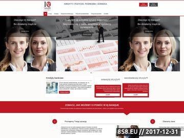 Zrzut strony Pożyczki i kredyty w IQ Banque