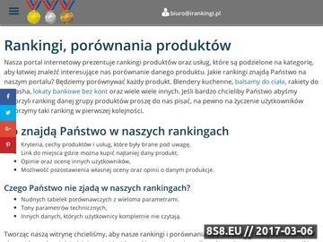 Zrzut strony Rankingi i porównania produktów w Internecie