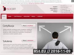 Miniaturka domeny isocert.org.pl