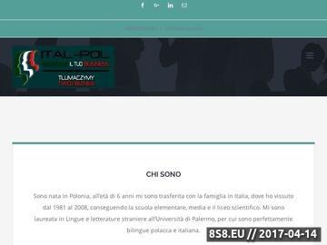 Zrzut strony Tłumacz j.włoskiego Katarzyna Balińska