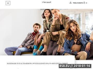 Zrzut strony Włoska odzież damska - sklep internetowy