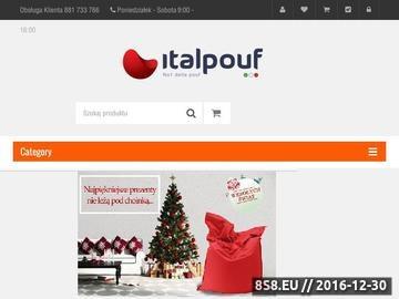 Zrzut strony Italpouf - Pufy Sako