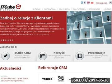 Zrzut strony Oprogramowanie CRM